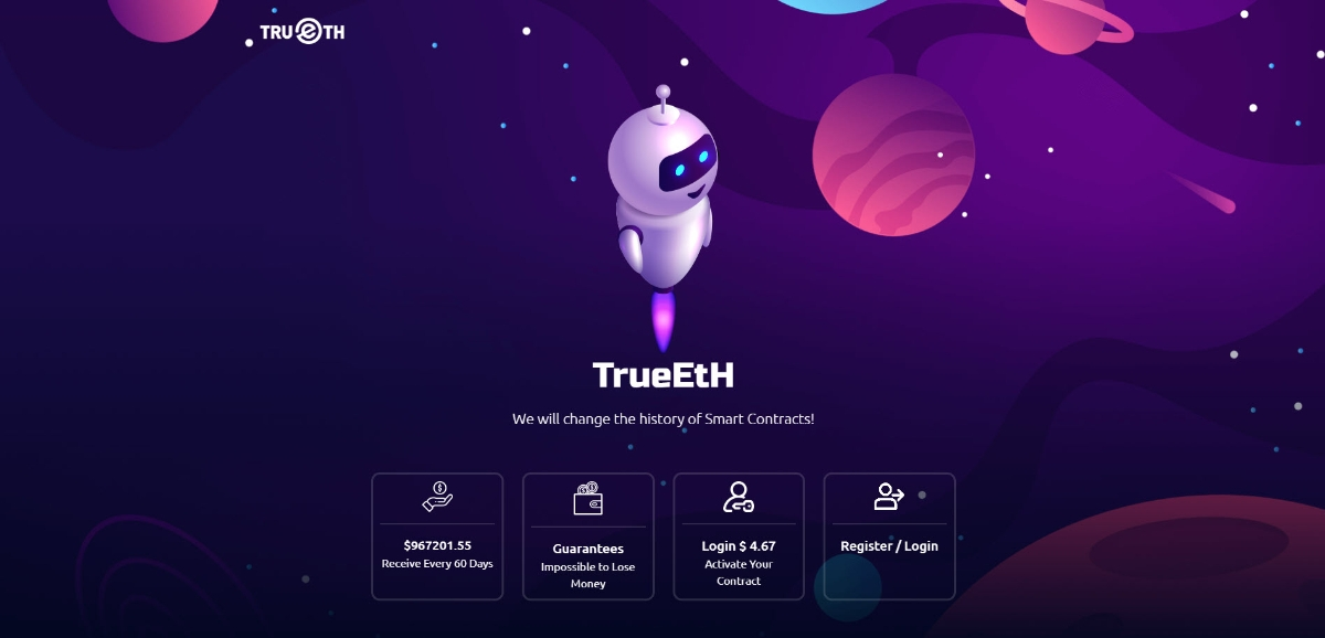 TrueEtH - We will change the history of Smart Contracts!
